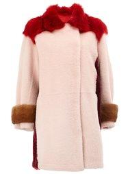 пальто с отделкой из овчины Maison Ullens
