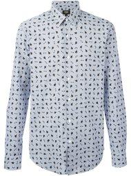 рубашка с принтом кошек Fendi