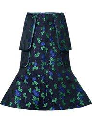 жаккардовая юбка миди с цветочным принтом G.V.G.V.
