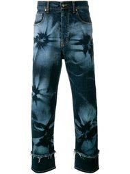 джинсы с рисунком в виде гибискусов James Long