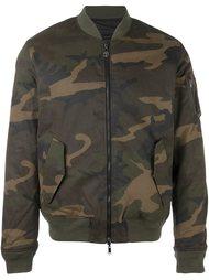 куртка-бомбер с камуфляжным принтом Hydrogen