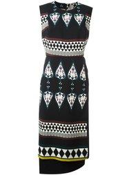 платье с комбинированным принтом Antonio Marras
