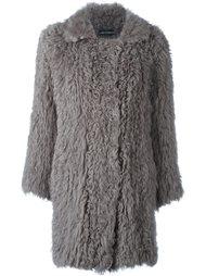 однобортное пальто из овчины Luisa Cerano