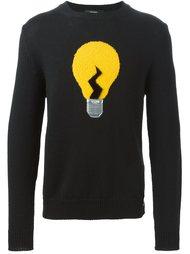 свитер с изображением лампочки  Fendi