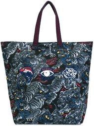 сумка-тоут с принтом тигров Kenzo