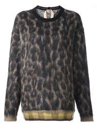джемпер с леопардовым принтом Nº21