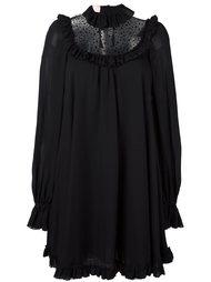 свободное платье с прозрачной панелью Giamba