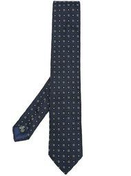 галстук с геометрическим узором Ermenegildo Zegna