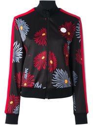 куртка-бомбер с цветочным принтом   MSGM
