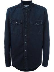 джинсовая рубашка с необработанными краями MSGM