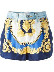 шорты с контрастным принтом Forte Couture