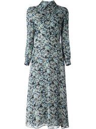 платье-рубашка с цветочным принтом   Saint Laurent