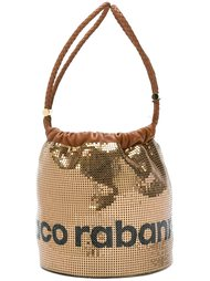 сумка-тоут с логотипом  Paco Rabanne