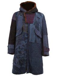 пальто с капюшоном и вышивкой By Walid