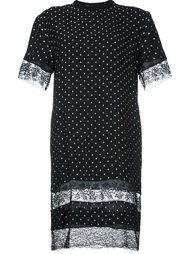 платье-футболка с кружевными панелями Givenchy