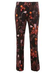 брюки прямого кроя с цветочным принтом  Giambattista Valli