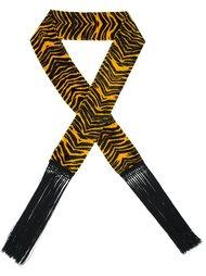бархатный шарф с анималистическим принтом Roberto Cavalli