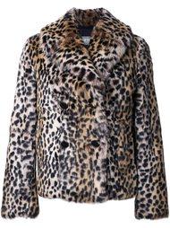 куртка с леопардовым принтом   Meteo By Yves Salomon