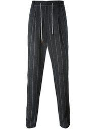 брюки в полоску Brunello Cucinelli