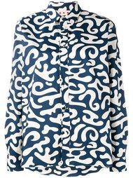рубашка с абстрактным принтом Marni