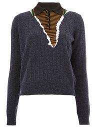 свитер с контрастным воротником-поло Maison Margiela