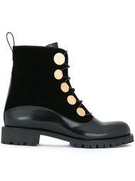 ботинки в стиле милитари  Alexander McQueen