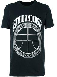 футболка с принтом логотипа   Astrid Andersen