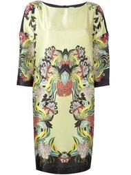 платье шифт с цветочным принтом I'M Isola Marras