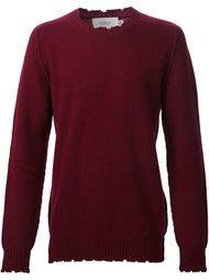 свитер с рваными деталями   Pringle Of Scotland