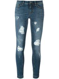 джинсы скинни с рваной отделкой Dolce & Gabbana