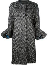 пальто с узором в елочку Capucci