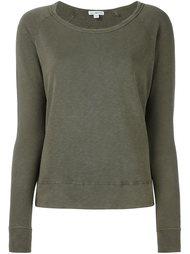 свитер с круглым вырезом   James Perse
