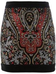 декорированная  юбка  Balmain