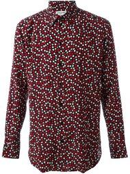 рубашка с принтом карточных мастей Saint Laurent