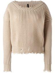 свитер с необработанными краями   Unravel