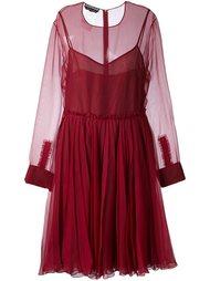 многослойное платье  Rochas