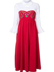 платье с вышивкой  Vivetta