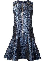 платье с эффектом металлик  Tanya Taylor