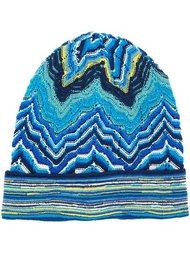 вязаная шапка-бини с зигзагообразным узором  Missoni