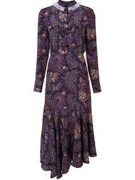 платье асимметричного кроя с абстрактным принтом  Suno