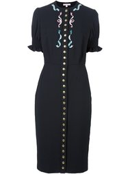 декорированное платье на пуговицах Olympia Le-Tan