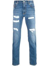 джинсы потертой отделкой Love Moschino