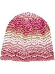шапка с зигзагообразным узором  Missoni