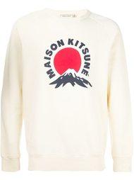 толстовка с принтом логотипа   'fuji mountain'  Maison Kitsuné