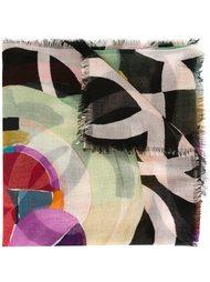 шарф с акварельным рисунком Chanel Vintage