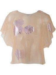 прозрачная декорированная блузка MSGM