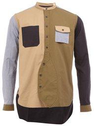 рубашка колор-блок  Wooster + Lardini
