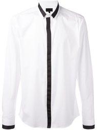 рубашка с контрастной окантовкой  Les Hommes