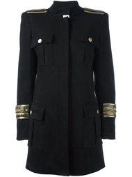 пальто в стиле милитари Pierre Balmain