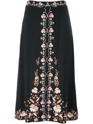 юбка с цветочной вышивкой Vilshenko